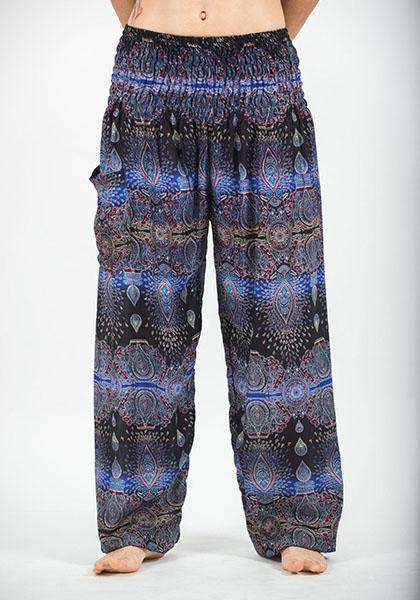 Drop Shape Print Lantern Pants