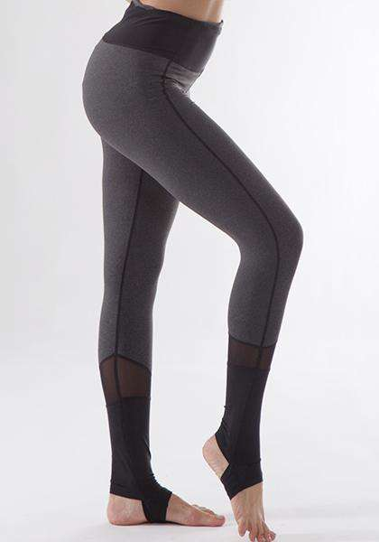 Elastic Skinny Peach Shape Mesh Patchwork Long Leggings