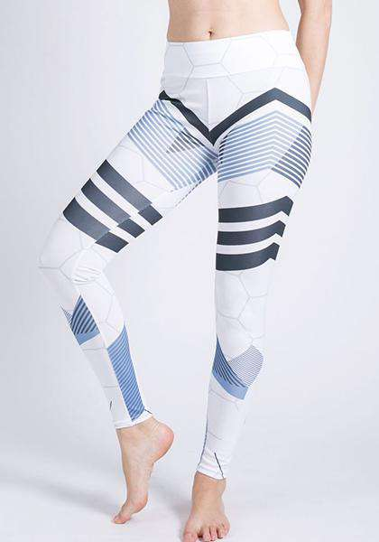 Faveolate Pattern Printed Skinny Yoga Leggings