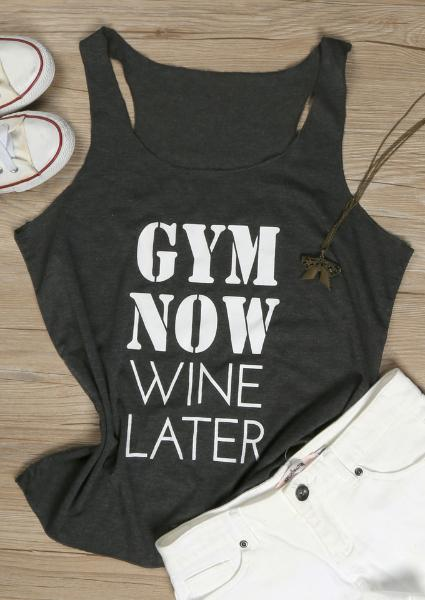 Gym Now Wine Later Tank