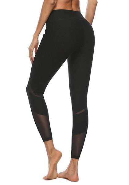 High Waist Sexy Mesh Yoga Pants