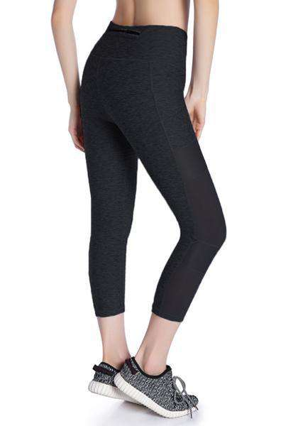 High Waist Skinny Pocket Yoga Capris Leggings