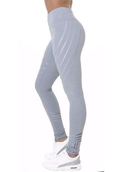 High Waist Stripe Skinny Yoga Leggings