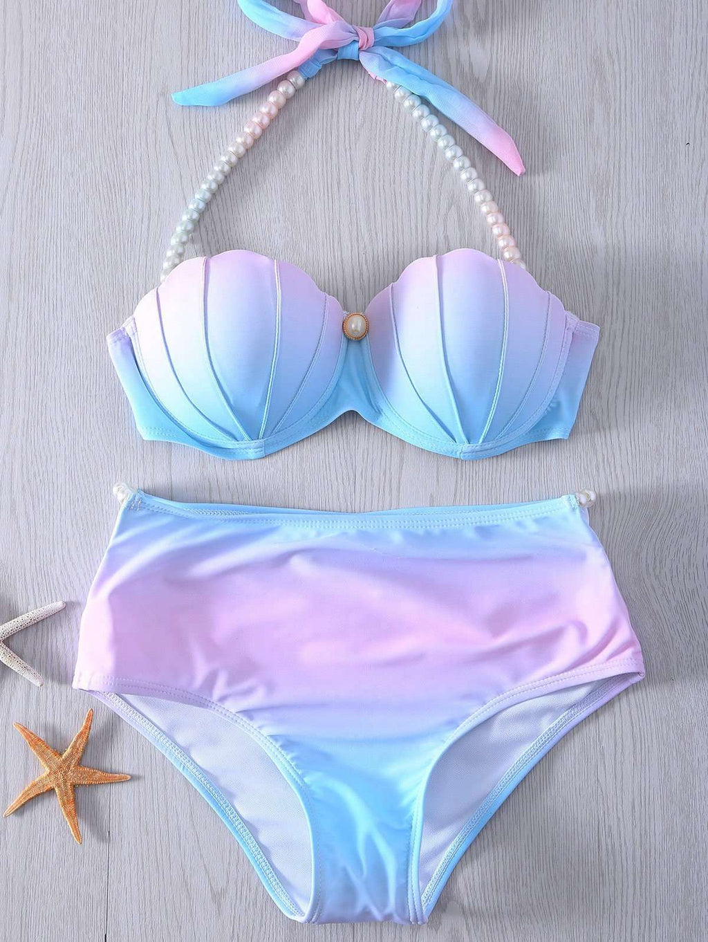 High waist shell bikini