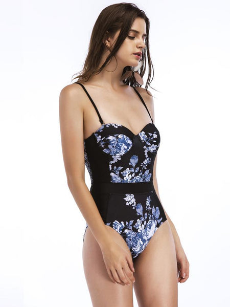 Sexy Printed One-piece Swimsuit