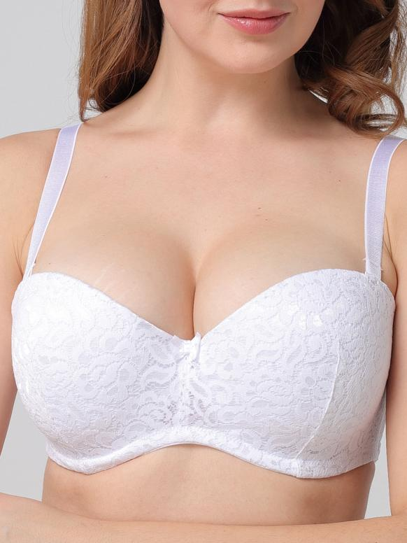 Reggiseno di bellezza invisibile in pizzo Half Plus Size Half Cup