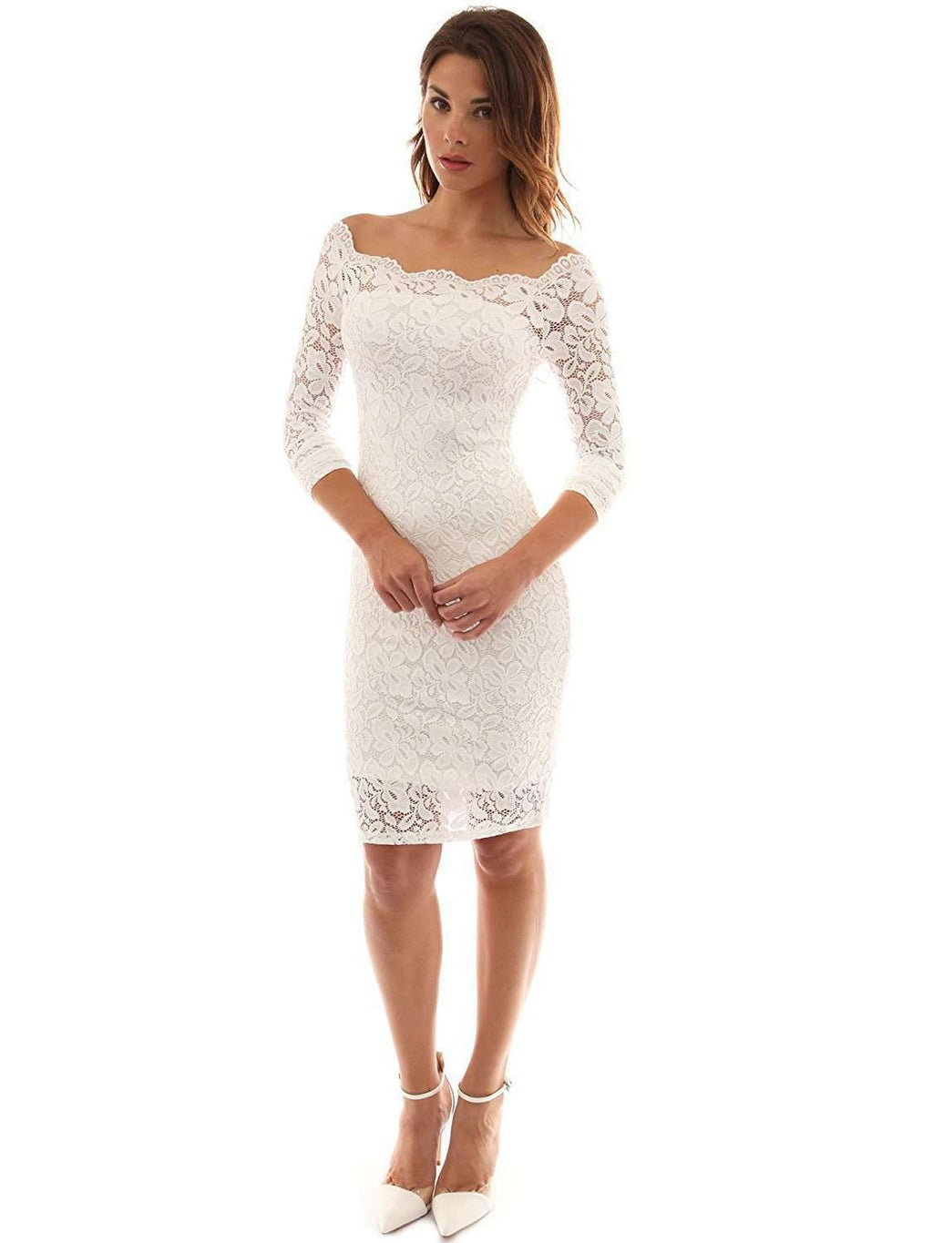 Lace Veil Solid Color Dress