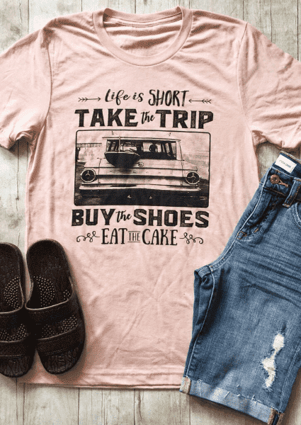 La vita è breve Take The Trip T-Shirt