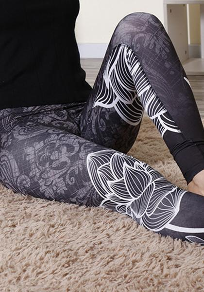 Lotus Digital Printed Leggings