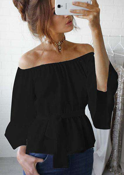 Lotus Leaf Off Shoulder Blouse