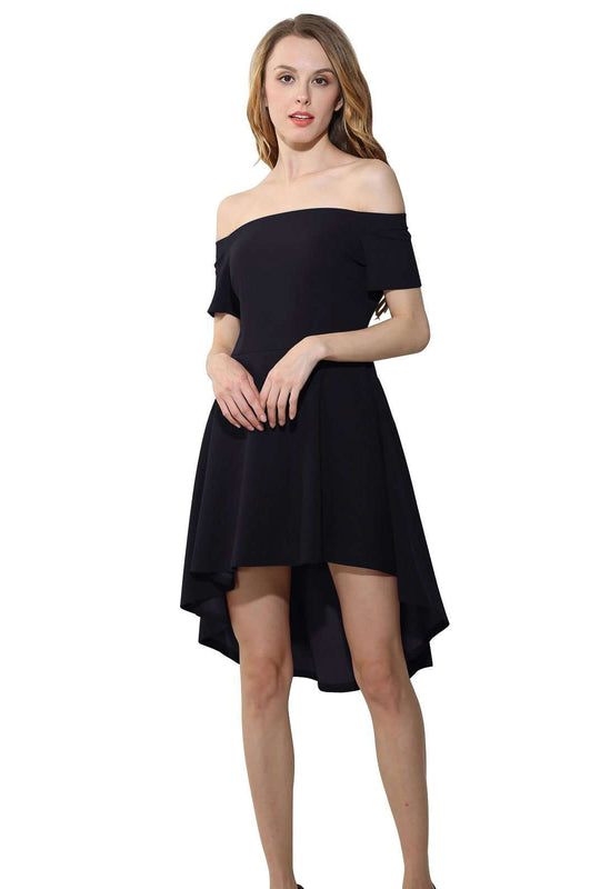 Purong Kulay Off Shoulder Casual Dress