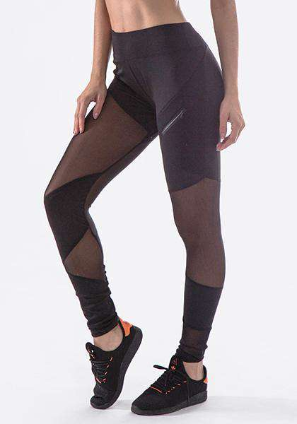 Mesh Patchwork Yoga Leggings