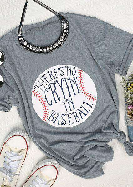No Cryin' In Baseball Letter T-Shirt