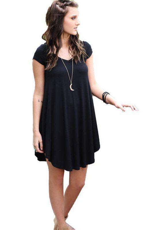 O-Neck Irregular Solid Color Dress