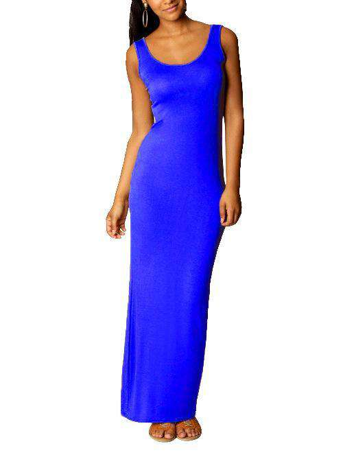 O-Neck Slip Solid Color Dress