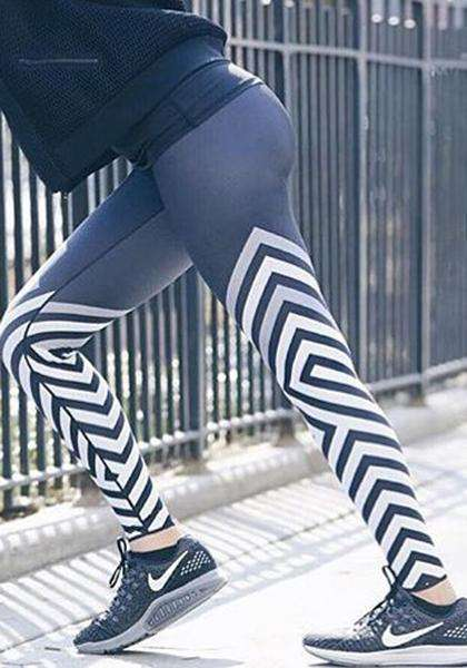 Leggings da yoga a righe magre all'aperto