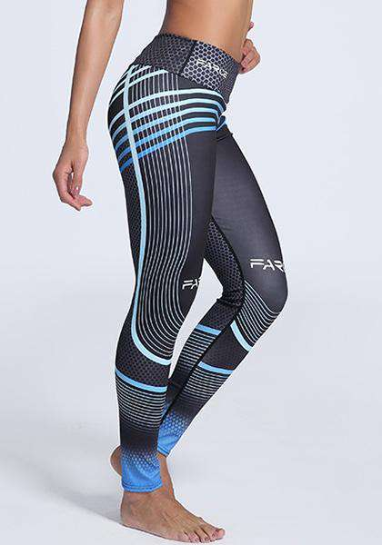 Outdoor Workout Gradient Digital Printed Skinny Yoga Leggings