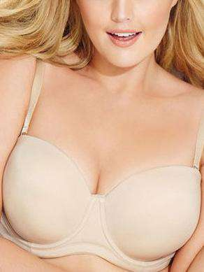 Plus Size Half Cup Invisible Smooth Push Up Reggiseno solido
