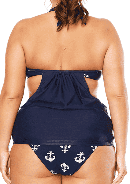 Plus Size Straps sports printing two sets of size swimsuits
