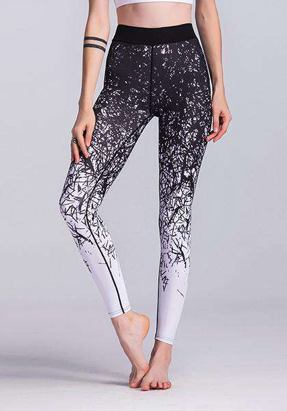 Naka-print na Exercise Yoga Pants