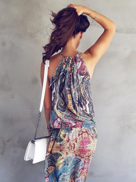 Printed Slip Dress