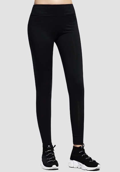Ultra-soft Skinny Yoga Pants With Pocket-Long Leggings -2ubest.com-Black-S-2UBest.com