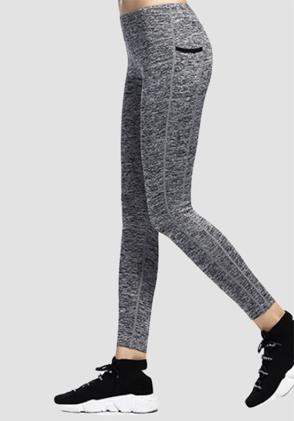 Ultra-soft Skinny Yoga Pants With Pocket-Long Leggings -2ubest.com-Grey-S-2UBest.com