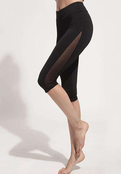 Quick-Drying Mesh Elastic Yoga Capris