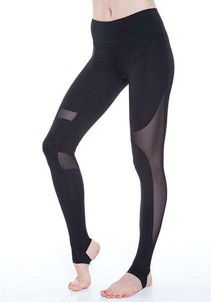 Quick-Drying Mesh Patchwork Workout Long Yoga Leggings
