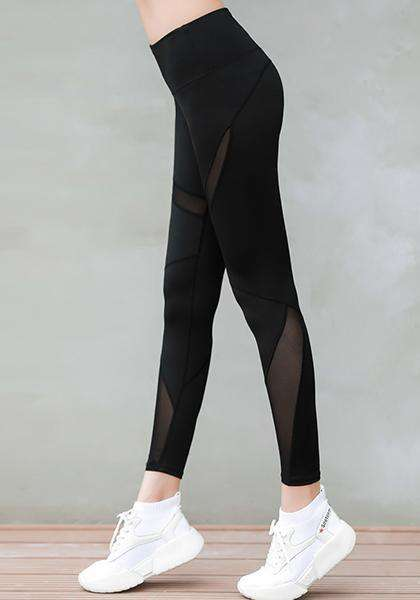 Quick-drying Freeskin Stretchy Mesh Patchwork Workout Leggings