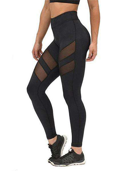 Quick-drying Mesh Patchwork Skinny Yoga Leggings