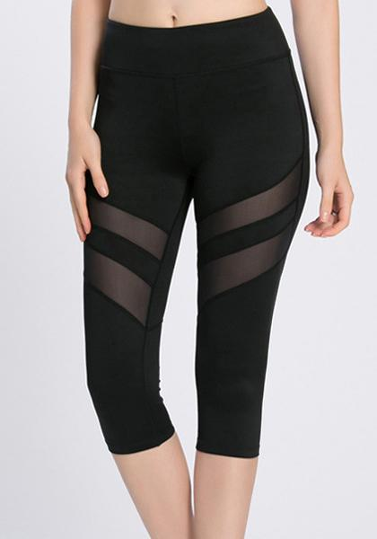 Quick-drying Mesh Patchwork Workout Freeskin Yoga Capris Leggings