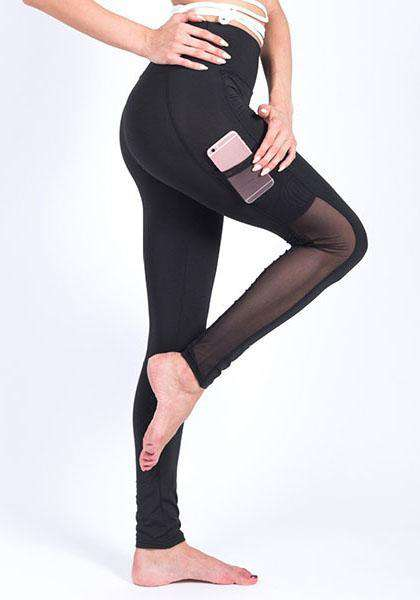 Leggings de yoga Pocket Mesh à séchage rapide