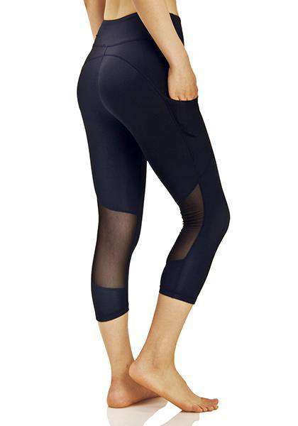 Quick-drying Side Pocket Elastic Workout Capris Pants