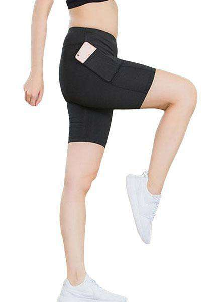 Quick-drying Side Pocket Elastic Workout Shorts Pants