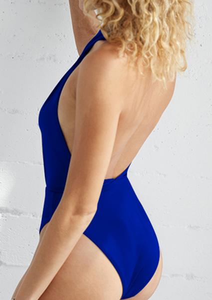 Backless Cross Halter Backless Swimsuit-Swimsuits-2ubest.com-2UBest.com