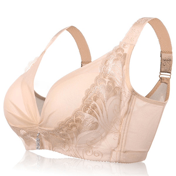 Sexy Deep Plunge Wireless Soft Gather Lightly Lined Fibroin Bras