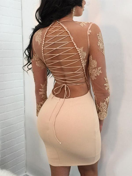 Sexy Lace Veil Bodycon Dress