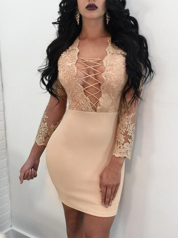 Véu de renda sexy bodycon dress