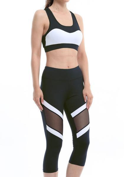 Skinny Freeskin Mesh Yoga Capris Leggings