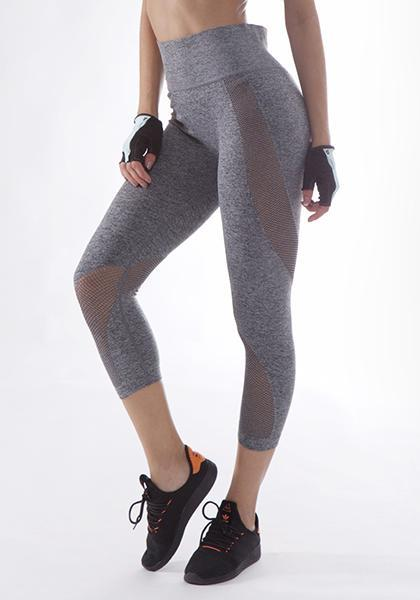 Skinny Mesh Patchwork Workout Capris Yoga Leggings