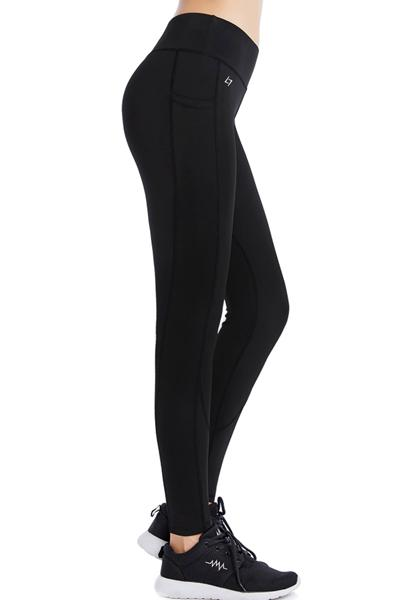 Skinny Yoga Pants With Pockets Sa Waistband & Sides