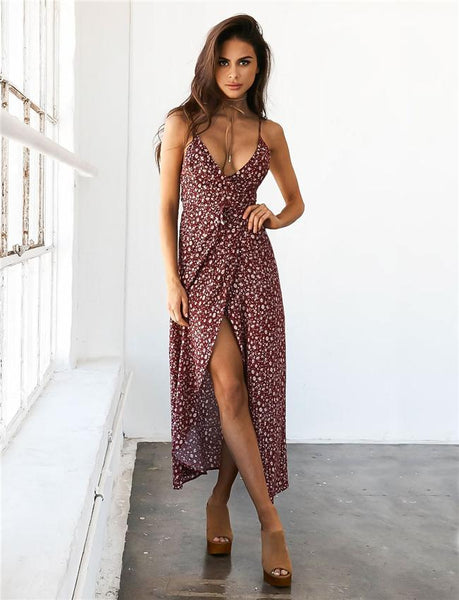 Slip V-Neck Dress