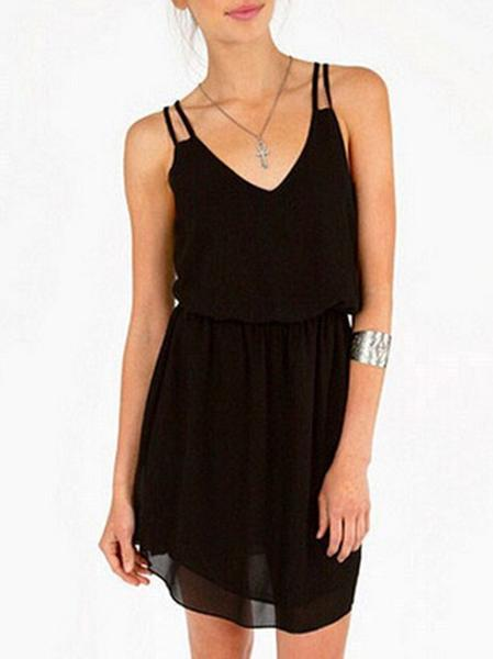 Solid Color Slip Dress
