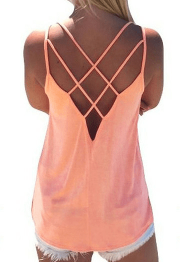 Trứng rắn rỗng Out Backless Sexy Camisole
