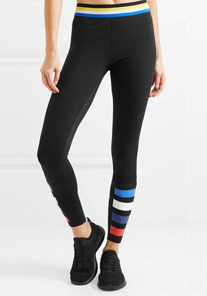 Stretchy Colorful Stripe Printed Workout Yoga Leggings
