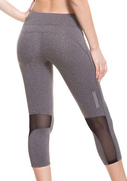 Stretchy Quick-drying Workout Mesh Yoga Capris Leggings