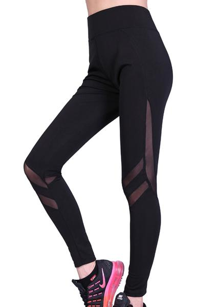 Stretchy Skinny Mesh Patchwork Long Yoga Leggings