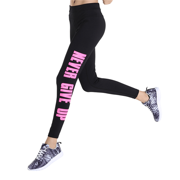 High Waist Letter Legging With Pockets