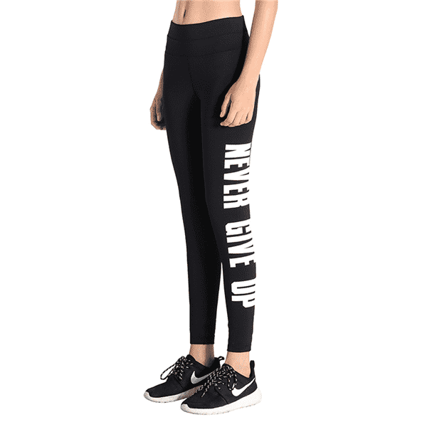 Tight High Waist Letter Running Pants